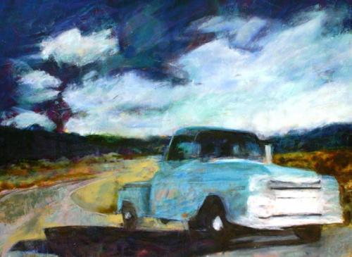Blue Truck©Linda Sugar