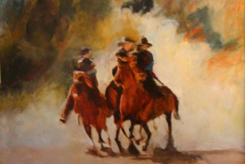 Three Dusty Riders